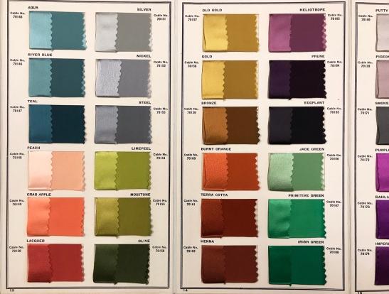 Textile Color Card